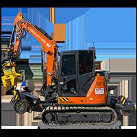 6.5T Hi-Rail Excavator Dry Hire